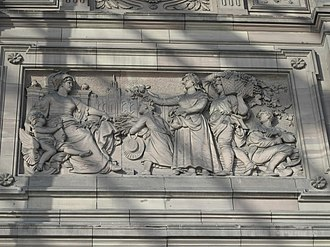Strasbourg Station - Relief on façade