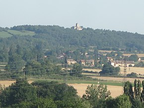 Remote view of the church Saint-Martin of Laives.jpg