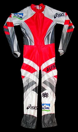 Austrian downhill racing suit