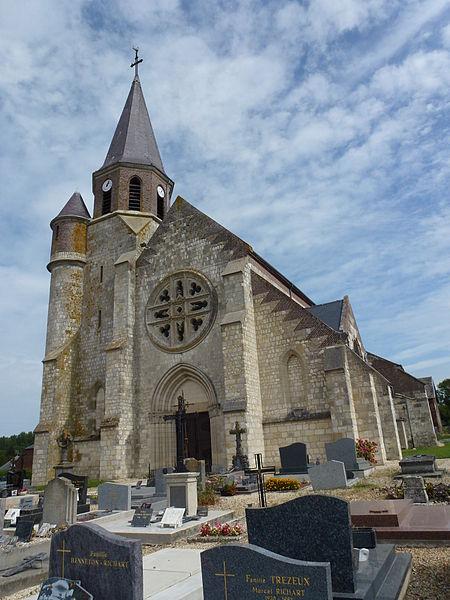 Renneville (Ardennes) église St-Nicolas