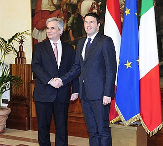 Austria–Italy relations - Matteo Renzi with Werner Faymann