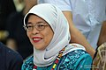 Republic of Singapore President Halimah Yacob witnesses the program proper during her visit to the Philippine Eagle Center in Davao City on September 11, 2019.jpg