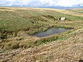 Reservoir and Ruin on Abney Moor - geograph.org.uk - 1520144.jpg