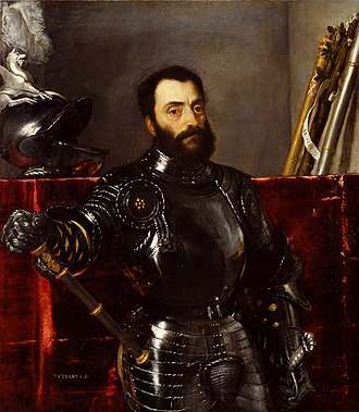 Francesco Maria I della Rovere, Duke of Urbino - Portrait by Titian
