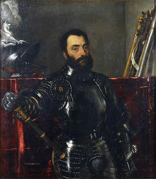 Retrato de Francesco Maria della Rovere, por Tiziano