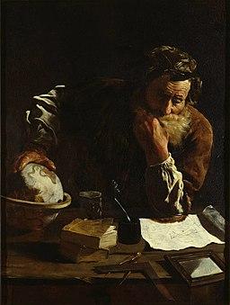 Retrato de un erudito (¿Arquímedes?), por Domenico Fetti