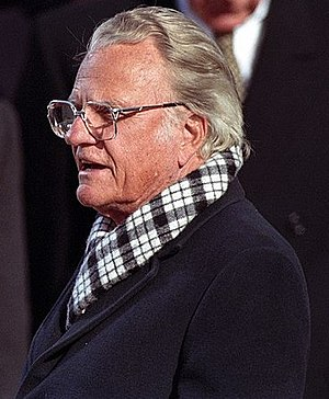 Reverend Billy Graham Delivering The Prayer At the Inauguration of Bill Clinton (cropped).jpg