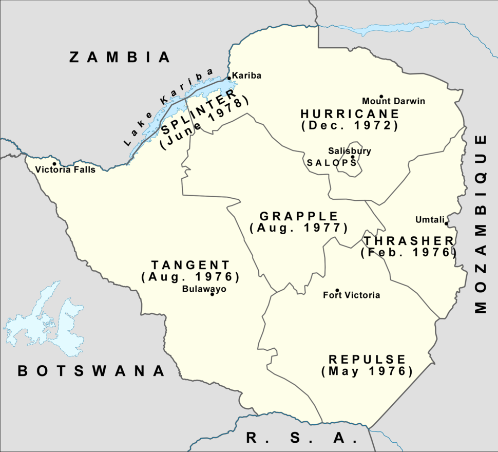 Rhodesian Security Forces operational areas