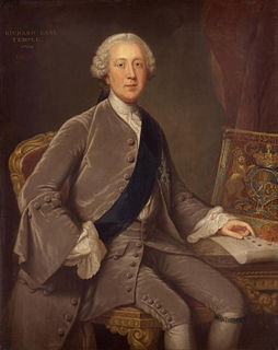 Richard Grenville-Temple, 2nd Earl Temple 18th-century British politician and first Lord of the Admiralty