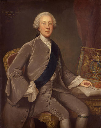 Richard Grenville-Temple, 2nd Earl Temple - Portrait by William Hoare, 1760.