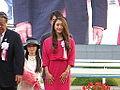 Rie Tanaka in 39th Queen Elizabeth II Cup - Kyoto Racecourse (15281946094).jpg