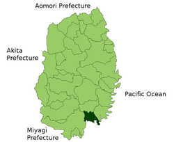 Location of Rikuzentakata in Iwate