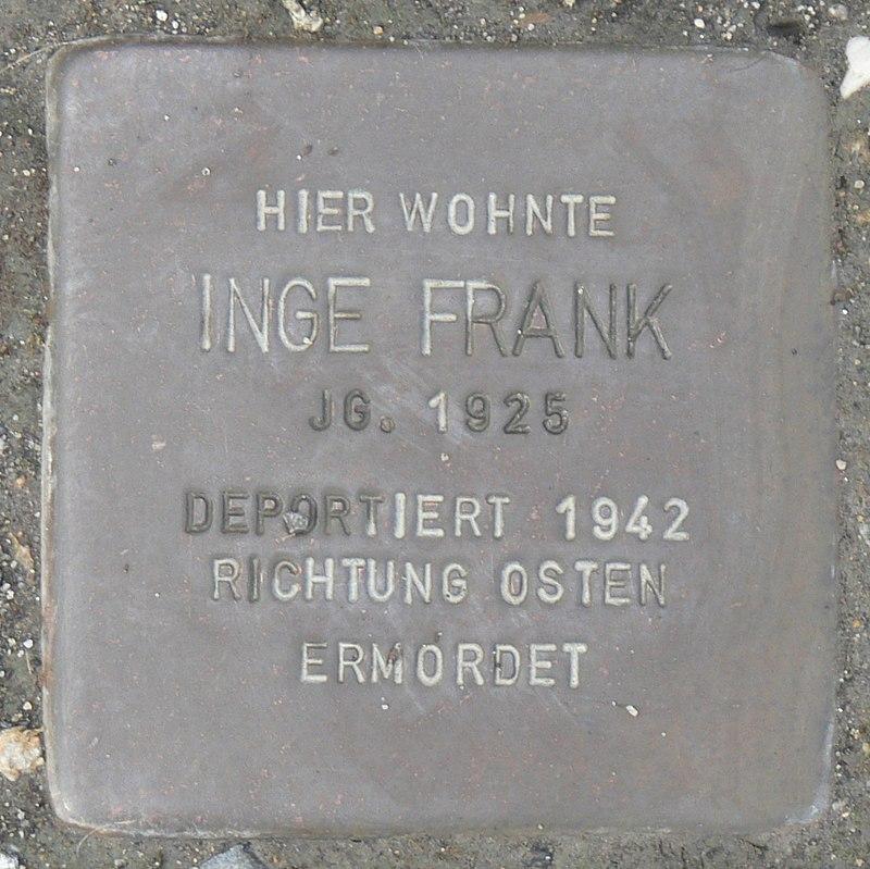 Rimpar Stolperstein Frank, Inge.jpg
