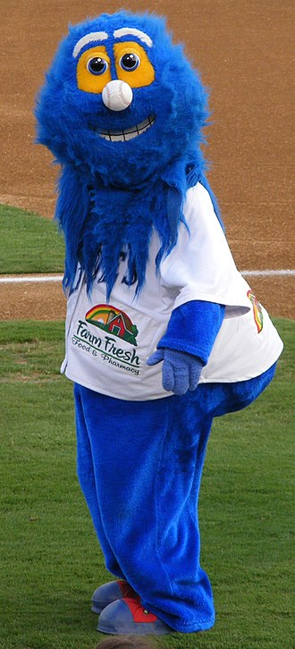 Norfolk Tides - Rip Tide, the mascot of the Norfolk Tides