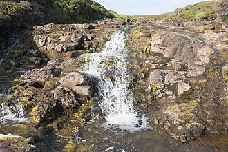 Skye - Waterfall on the River Rha between Staffin and Uig