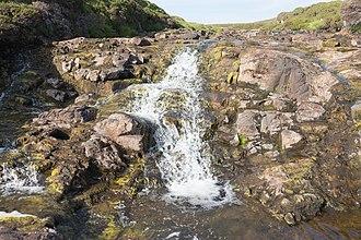 Skye - Waterfall on the River Rha between Staffin and Uig