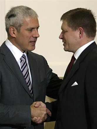 Boris Tadić - Boris Tadić with Slovak Prime Minister Robert Fico in Belgrade.