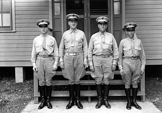 Robert H. Pepper - Lieutenant Colonel Robert H. Pepper (second from right) with the staff of 3rd Defense Battalion on Hawaii.