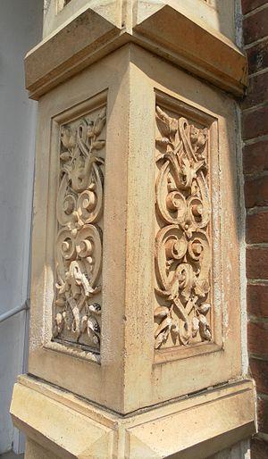 Robertsbridge United Reformed Church - The doorway has moulded pilasters.