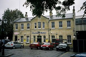 Rochester railway station - Image: Rochesterrear