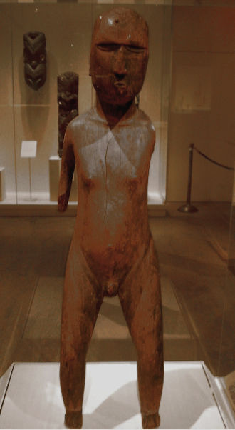 Mangarevan narrative - A wooden carving of Mangarevan deity, Metropolitan Museum of Art