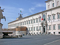 The Quirinal Palace, house of the President of the Republic.