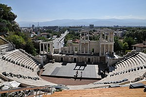 English: The ancient Roman theatre in Plovdiv,...