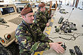 Romanian soldiers inventory multiple integrated laser engagement system gear during a mission rehearsal exercise at the Joint Multinational Readiness Center in Hohenfels, Germany, March 5, 2013 130305-A-ZD093-010.jpg