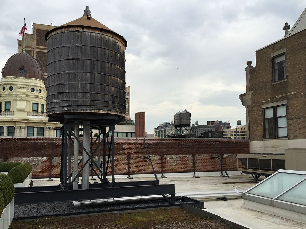 File Rooftop Water Tower 160 5th Ave Manhattan Jpg