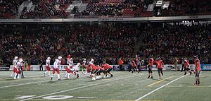 Laval Rouge et Or - Football game opposing Rouge et Or and Axemen at Laval