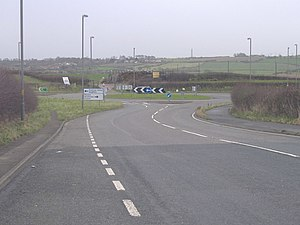 A165 road - Roundabout at the Filey bypass
