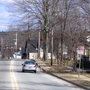 Nova Scotia Route 325 - Route 325 as it passes through Bridgewater, Nova Scotia. Within the town, it is known as Victoria Road.