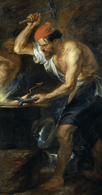 Workmanship - Ruben's 1536  rendition of Vulcan, the  Roman counterpart of Hephaestus, the Greek God of Craftsmen.