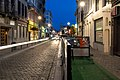 Rue Haute during civil twilight (DSC 0772).jpg