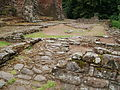 Ruined stable block at Goodrich Castle.JPG