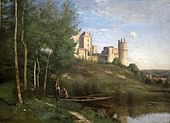 Ruins of the Chateau of Pierrefonds by Corot, c. 1866-67.jpg