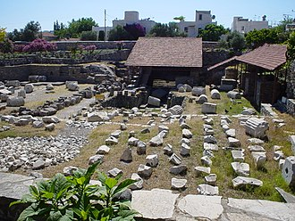 Iron Age Greek migrations - Ruins of the Mausoleum at Halicarnassus, one of the Seven Wonders of the Ancient World