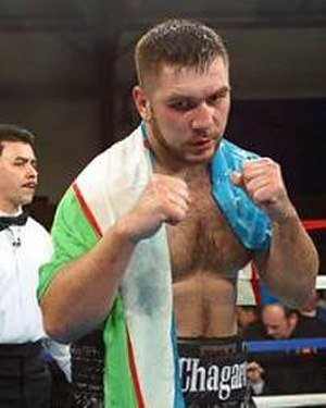 Southpaw stance - Ruslan Chagaev in southpaw stance.
