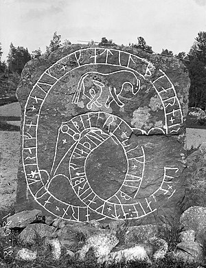 Södermanland Runic Inscription 226 - Photograph of Sö 226 in 1900.
