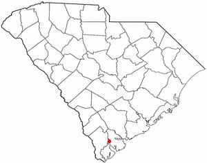 Laurel Bay, South Carolina - Image: SC Map doton Laurel Bay