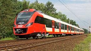 35WE-001 na linii S1 SKM w Warszawie