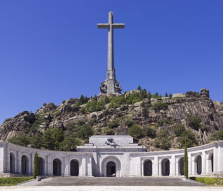 Franco is entombed in the monument of Santa Cruz del Valle de los Caidos SPA-2014-San Lorenzo de El Escorial-Valley of the Fallen (Valle de los Caidos).jpg