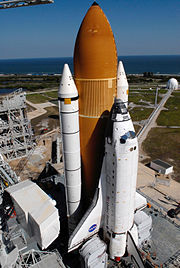 STS-122 on launch pad
