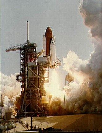 STS-4 - Columbia begins its final test flight from Launch Complex 39A of KSC