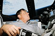 STS-68 Baker looking at Earth