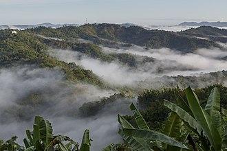 Crocker Range - Crocker Range as seen from Ranau–Tamparuli Road