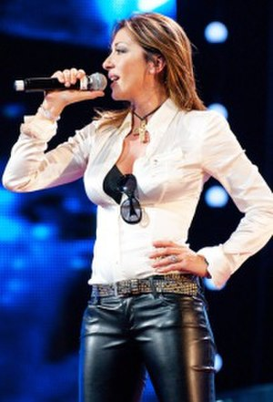 Sabrina Salerno - Sabrina performing live in Moscow, Russia, 2010