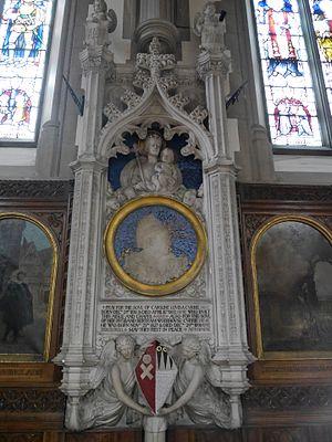 Bertram Wodehouse Currie - Memorial in Sacred Heart Church, Wimbledon