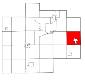 Saginaw County Michigan townships Frankenmuth highlighted.png