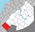 Saint-Athanase Quebec location diagram.png